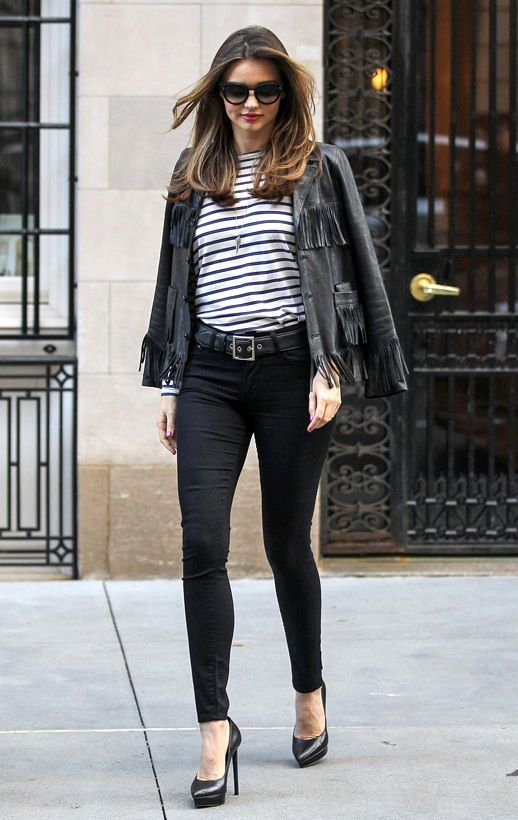 Miranda kerr leather jacket
