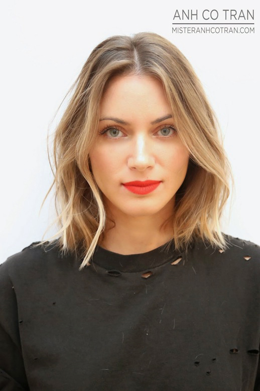fun hairstyles for short hair : ... -Inspiration-The-Perfect-Wavy-Bob-Via-Mister-Anh-Co-Tran-Front-2