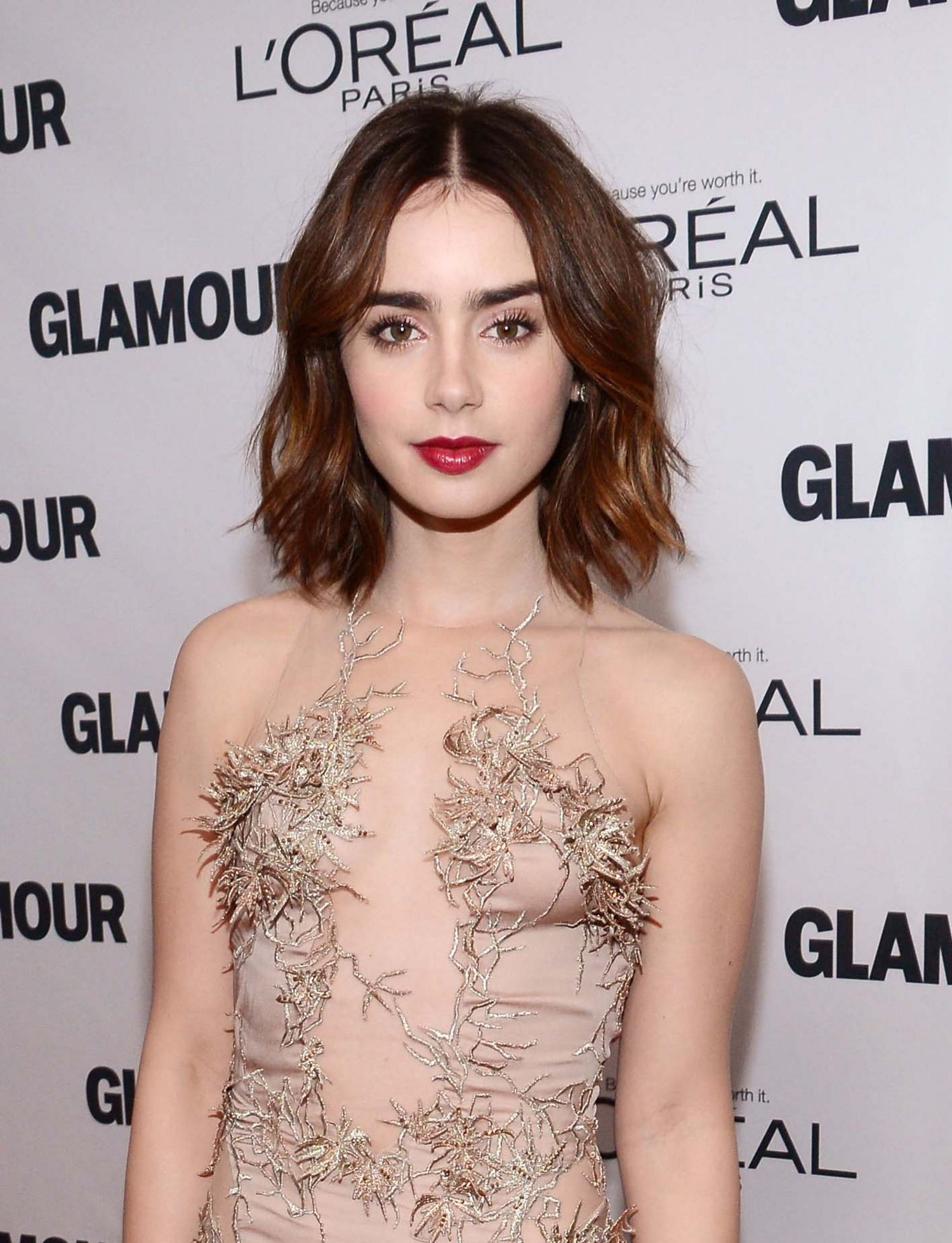 lily,collins,dark,lipstick,glamour,woty,awards,main
