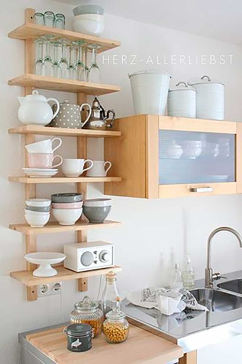 Repisas cut paste blog de moda for Open shelves in kitchen ideas