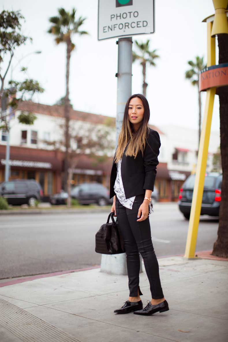 aimee_song_black_blazer_black_skinny_jeans_pointy_flats