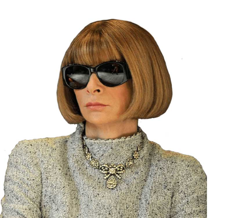 how to cut anna wintour bangs