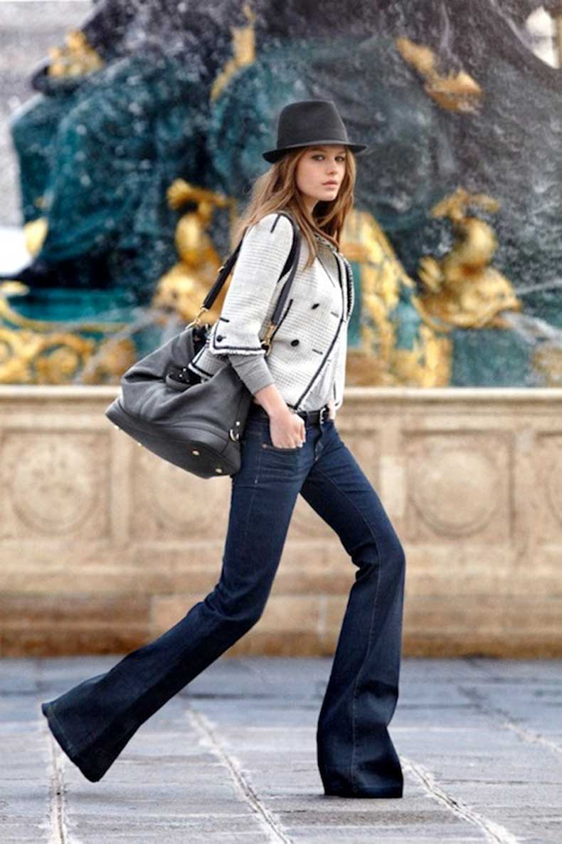 6-Le-Fashion-Blog-9-Ways-To-Wear-Flared-Jeans-Wide-Leg-Denim-Hat-Jacket-Street-Style