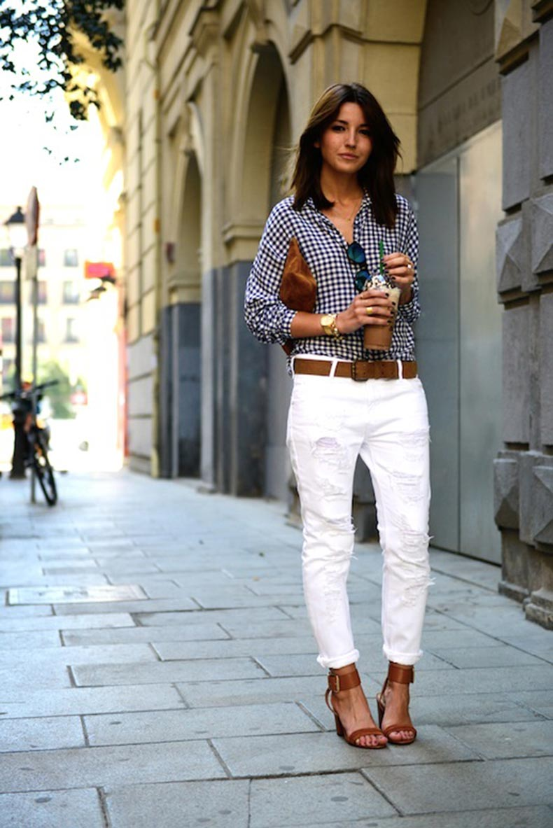 19-Le-Fashion-Blog-30-Fresh-Ways-To-Wear-White-Jeans-Gingham-Button-Down-Shirt-Sandals-Via-Lovely-Pepa