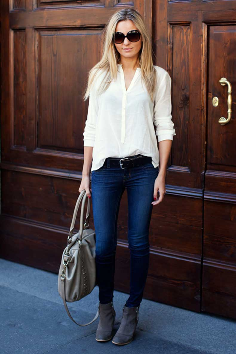 Forma 41 cut paste blog de moda for White pants denim shirt