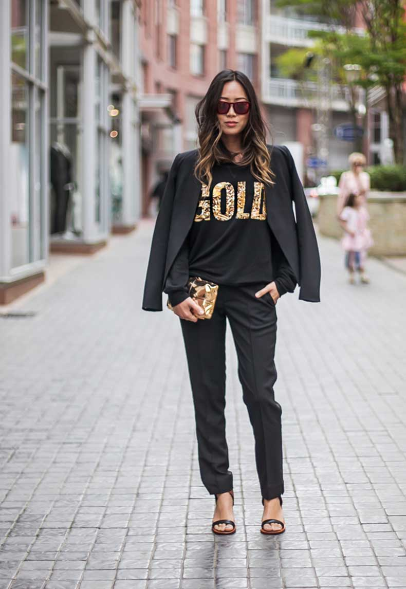 aimee_song_black_blazer_two_songs_gold_sweatshirt-1