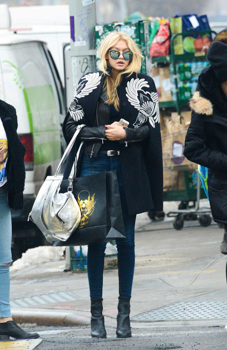 Gigi-hit-streets-embroidered-cape-mirrored-shades