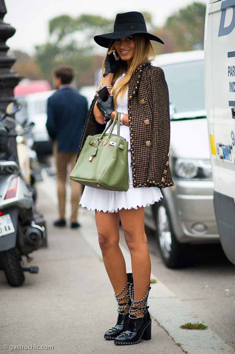 chanel-jacket-and-white-dress-outside-chanel