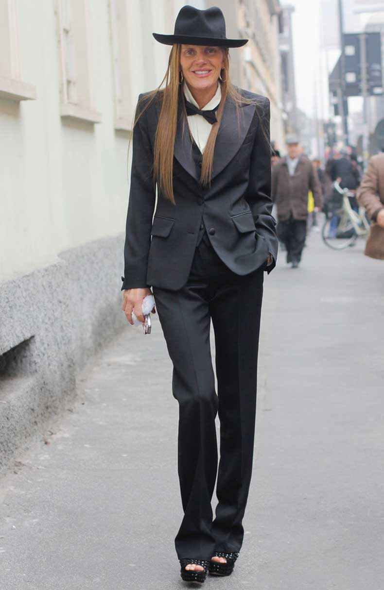 Anna-Dello-Russo-showcased-little-menswear-flair-full-tuxedo
