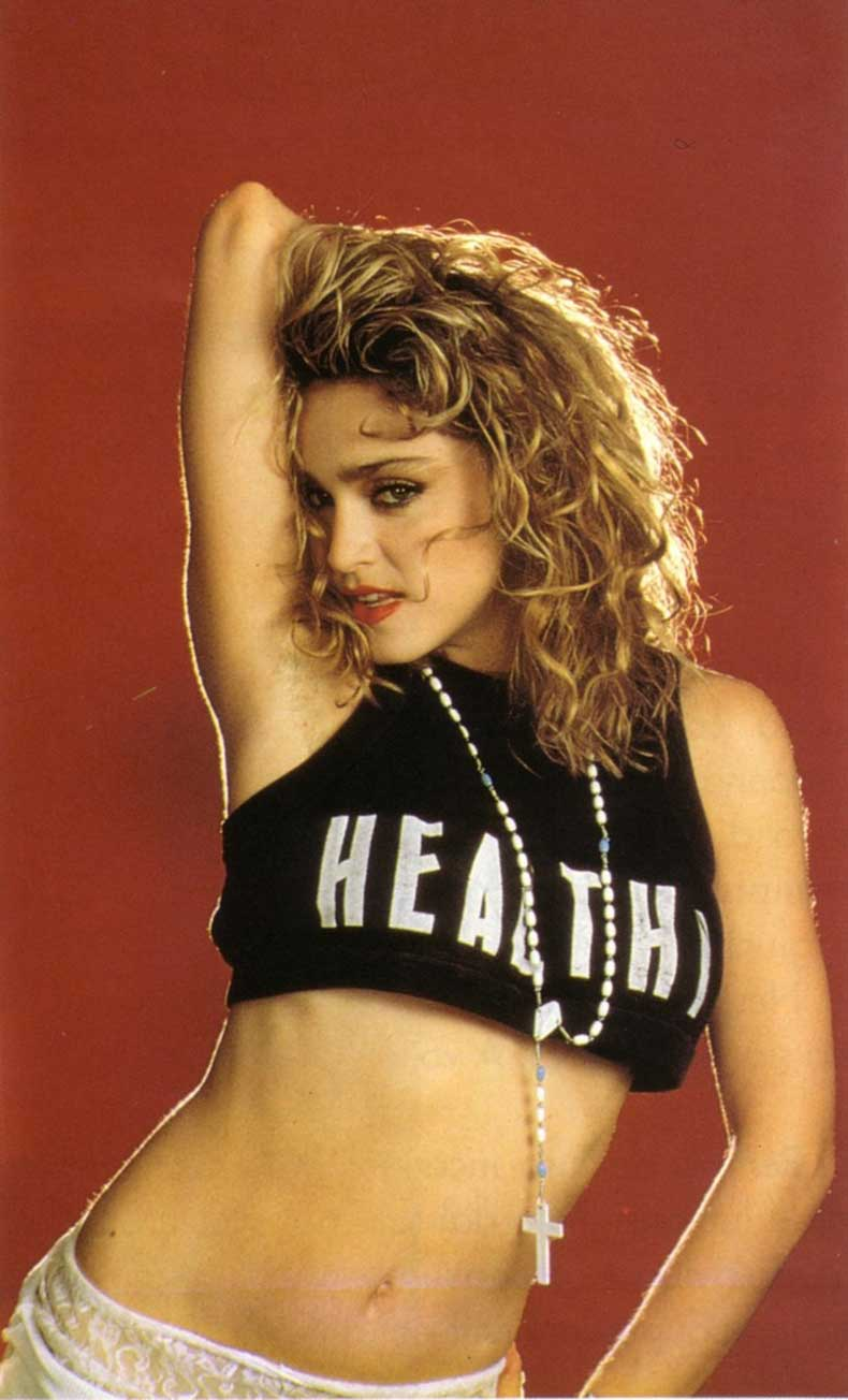 madonna-healthy-slogan-shirt