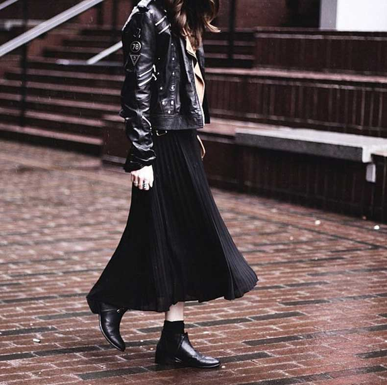 Leather-Jacket-Midi-Skirt-Booties