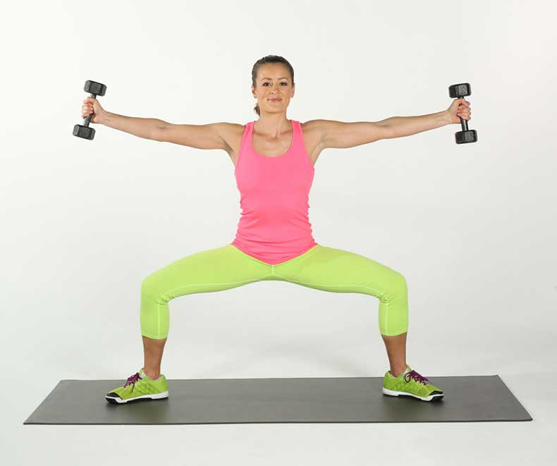 Sumo-Squats-Side-Arm-Raises