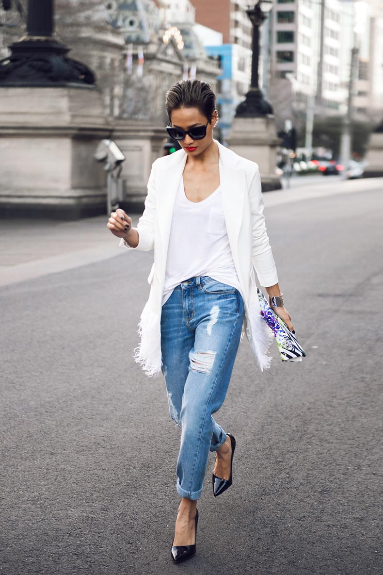 Micah-Gianneli_Top-fashion-style-beauty-blogger_Rihanna-Riri-style_Street-style_Thierry-Lasry_Feather-blazer-jacket_Boyfriend-jeans_-1