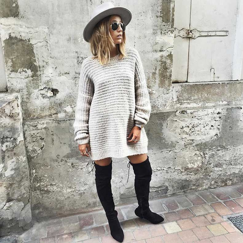 Sweater-Dress-Over--Knee-Boots-Hat