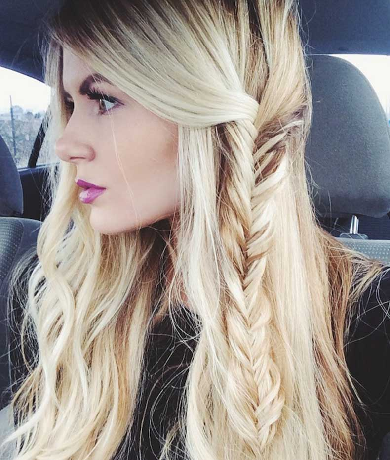 Ondas playeras con trenza espiga. beach,waves,and,side,fishtail
