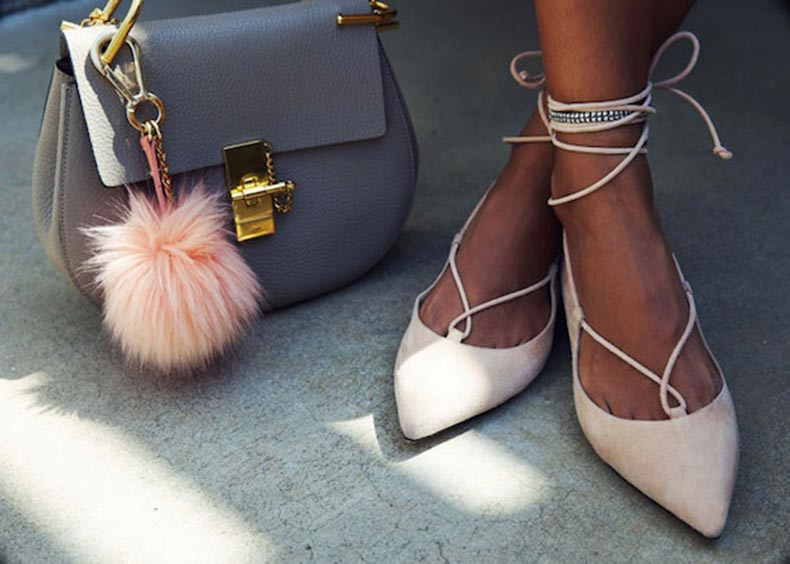 Pointe Shoe Style Flats