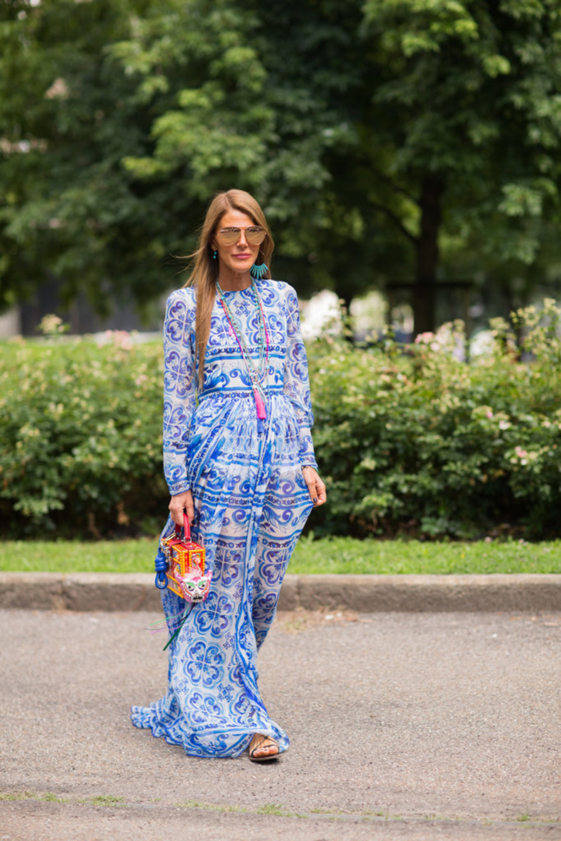 Anna-Dello-Russo-breezy-maxi-perfect-surviving-balmy-weather