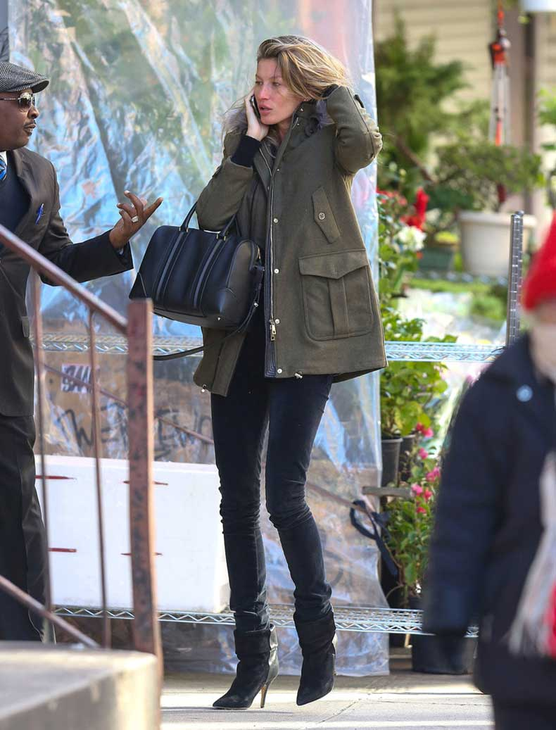 Wintry-weather-cause-Gisele-Bündchen-dress-down