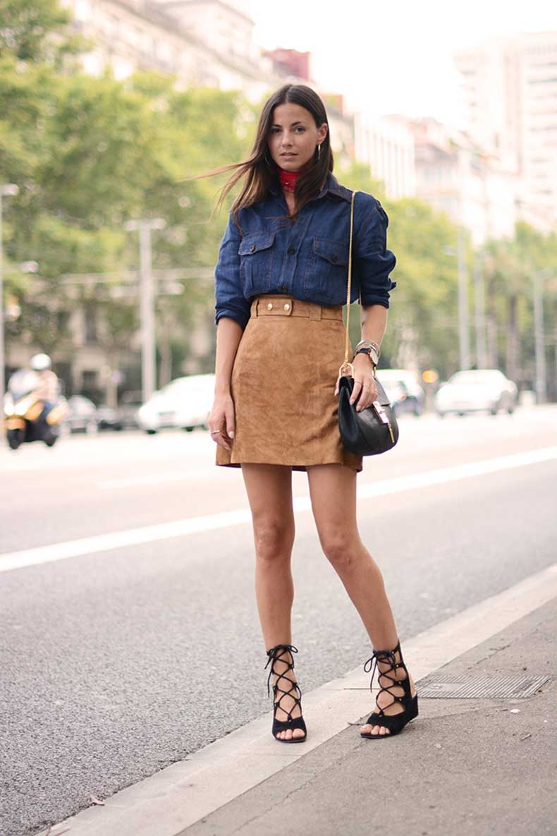 3.-chambray-shirt-with-suede-skirt
