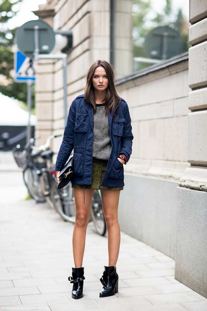 Le-Fashion-Blog-Columbine-Smille-Spring-Layers-Layered-Blue-Utility-Jacket-Sweater-Skirt-Patent-Ankle-Boots-Via-Stockholm-Streetstyle