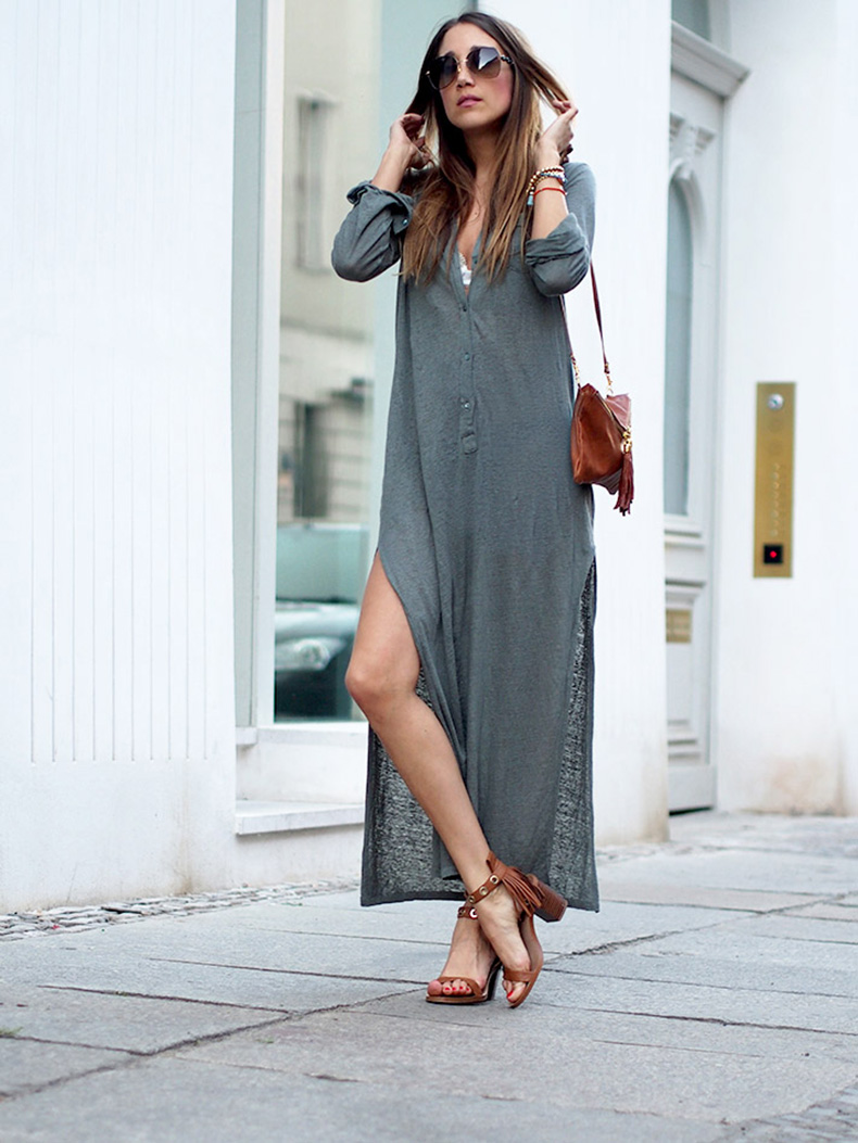 maxi-dress-linen-khaki-majestic-block-sandals-zara-streetstyle-berlin-blogger