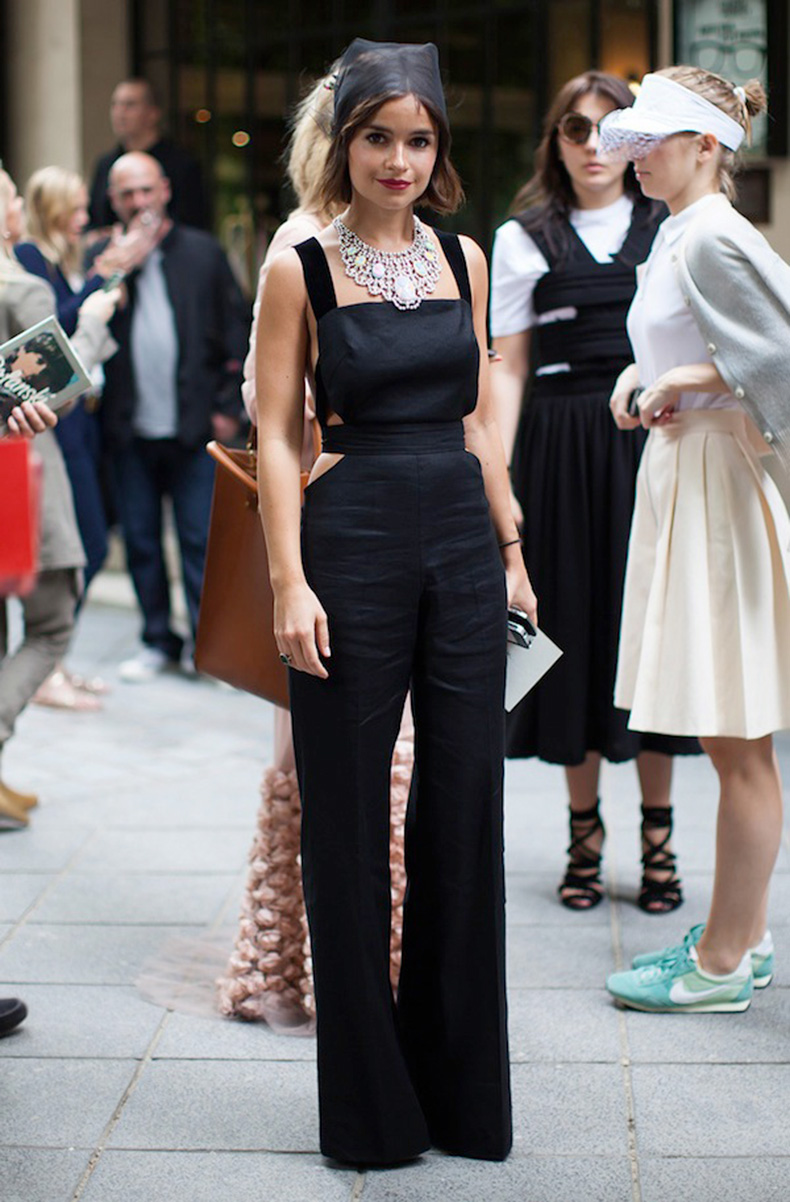 la-modella-mafia-Miroslava-Duma-in-a-black-cut-out-jumpsuit-15-statement-necklace