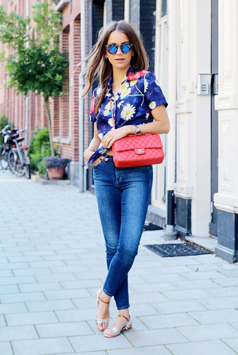 short-sleeve-button-down-shirt-skinny-jeans-flat-sandals-crossbody-bag-sunglasses-watch-original-8446