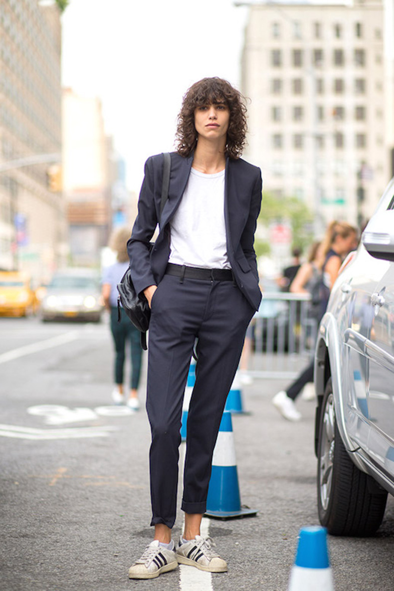 Le-Fashion-Blog-25-Ways-To-Wear-Adidas-Sneakers-Suit-White-Tee-Cuffed-Pants-Superstar-Street-Style-Mica-Arganaraz-Via-Harpers-Bazaar