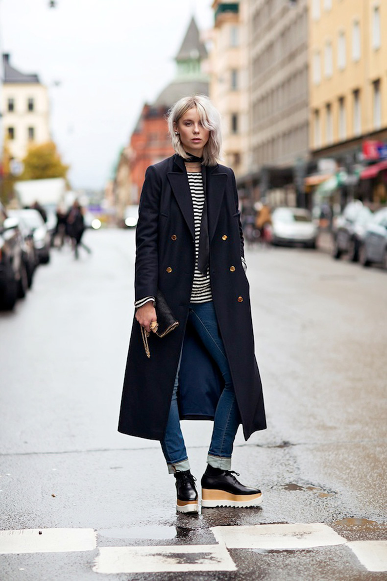 Le-Fashion-Blog-Stockholm-Sweden-Street-Style-Military-Coat-Striped-Tee-Cuffed-Jeans-Stella-McCartney-Platform-Oxfords