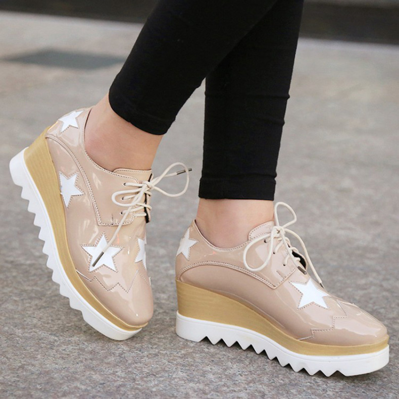 Fashion-Star-Print-4-ColorsThick-Bottom-Sneakers-Casual-Woman-Flats-font-b-Shoes-b-font-Free