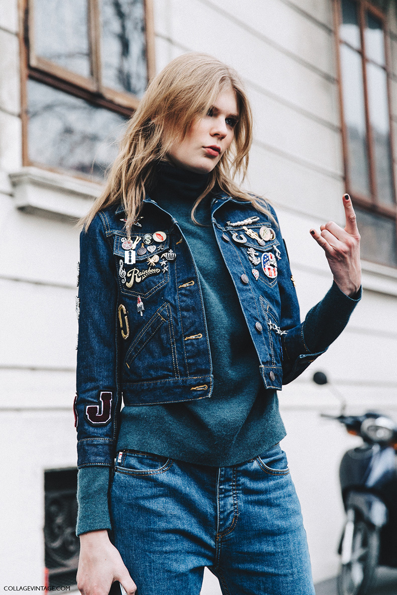 Milan_Fashion_Week_Fall_16-MFW-Street_Style-Collage_Vintage-Model-Denim_Look-Pins-