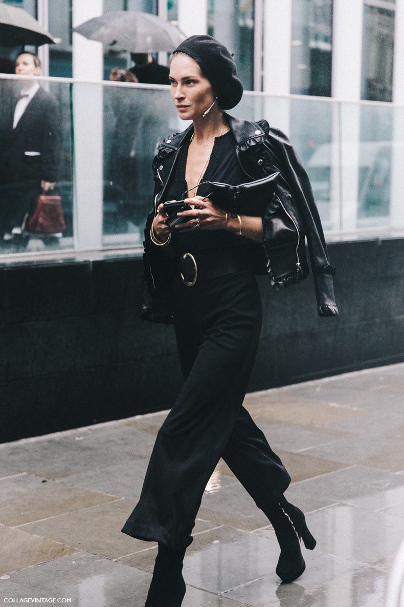 London_Fashion_Week-Spring_Summer_16-LFW-Street_Style-Collage_Vintage-Erin_Wasson-Leather_Jacket-Frenchy_Hat-1-790x1185