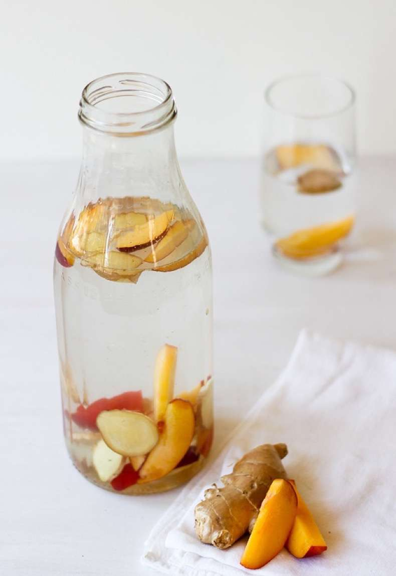 Ginger-Peach-Water-Flavored-Water-Recipes