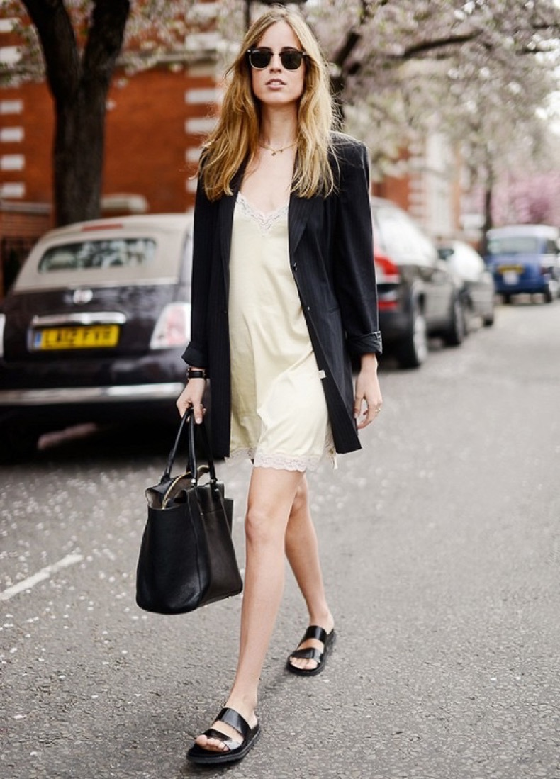 casual-blazer-jacket-and-ecru-slip-dress