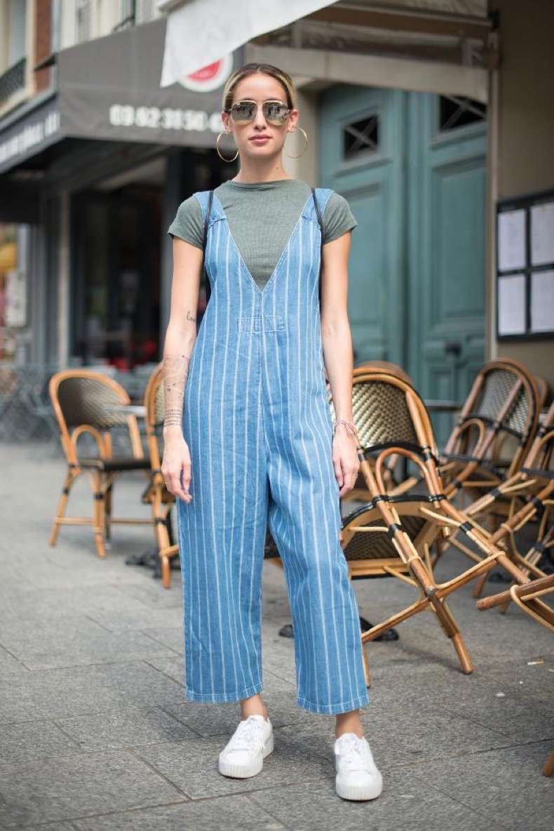 PARIS, FRANCE - JUNE 23: Alex Closet poses wearing a Zara overall and Puma Fenty Rihanna after the Andrea Crews show at the Maison des Metallos during Paris Fashionweek Menswear SS17 on June 23, 2016 in Paris, France. (Photo by Vanni Bassetti/Getty Images)