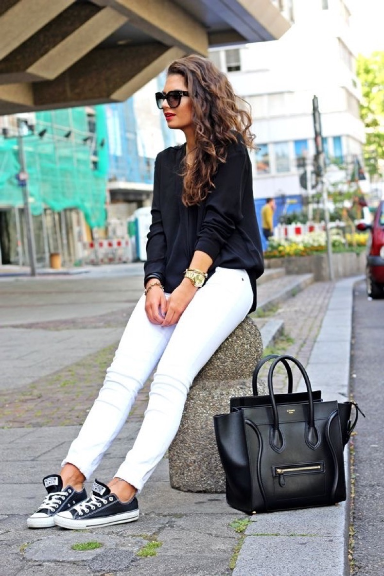 white-denim-and-black-top