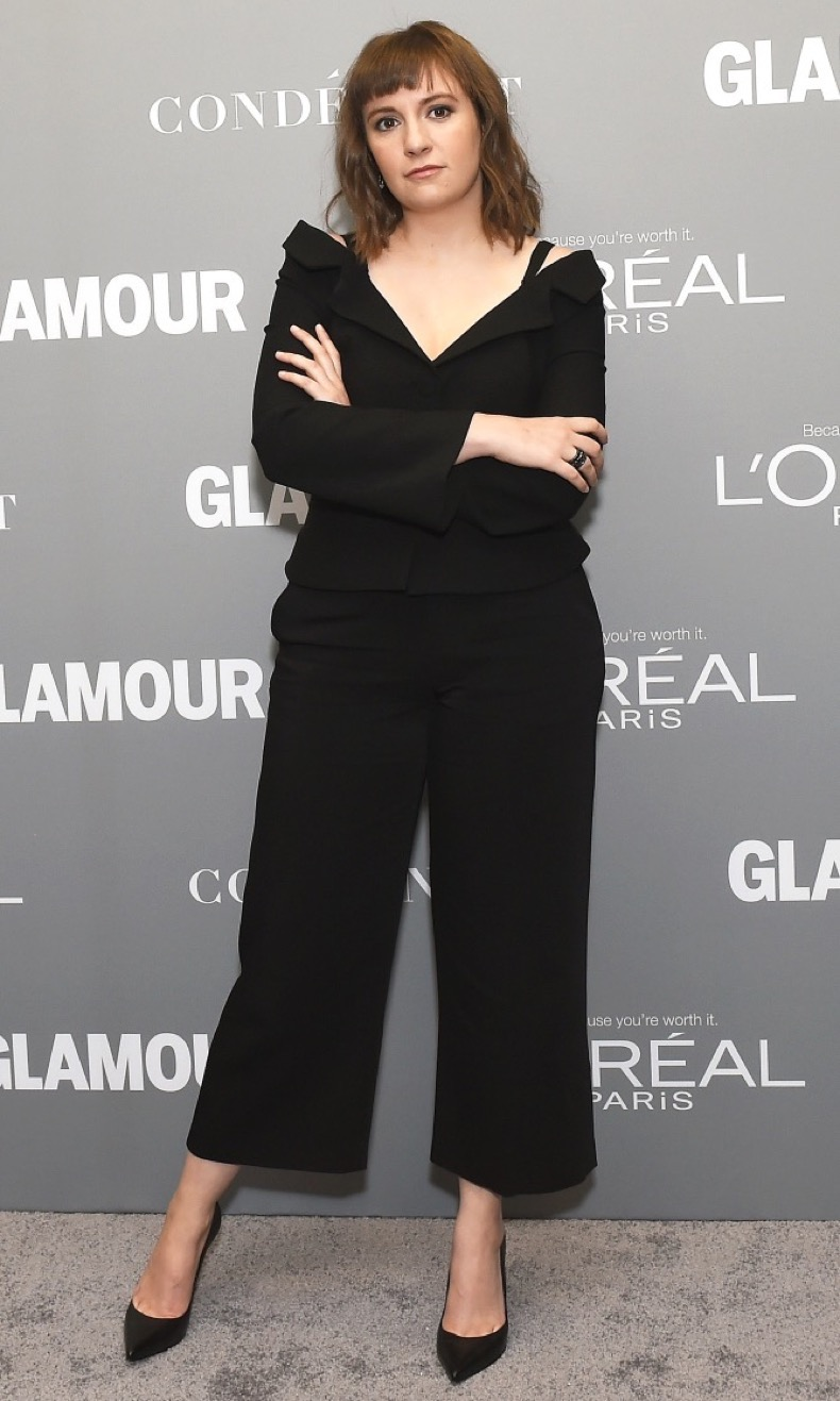 LOS ANGELES, CA - NOVEMBER 14:  Actress Lena Dunham poses backstage during Glamour Women Of The Year 2016 LIVE Summit at NeueHouse Hollywood on November 14, 2016 in Los Angeles, California.  (Photo by Emma McIntyre/Getty Images)